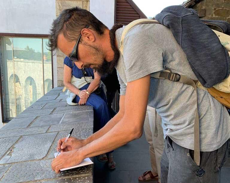 2019 - franZ disegna nel Castello di Lubiana - franZroom.net
