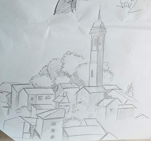 Artwork pesa pubblica Monleale - Bozzetti - franZroom.net
