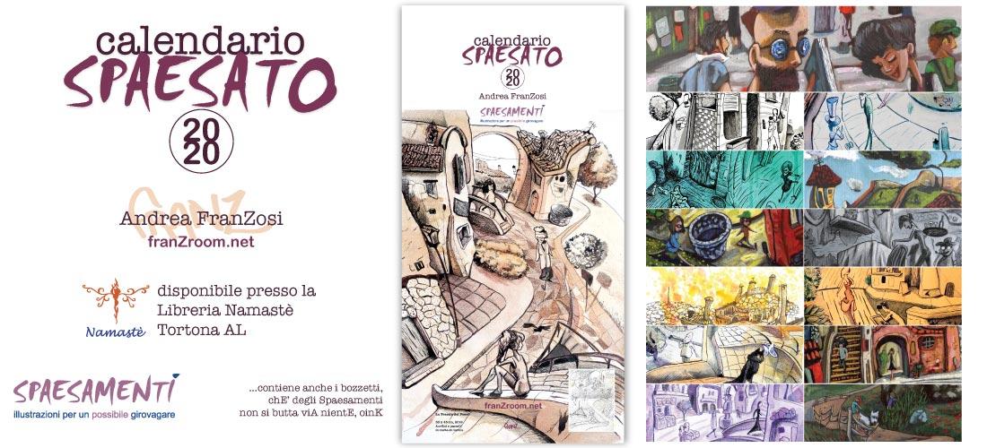 Banner CalendariO SpaesatO 2020, coveR - AndreA FranZosi franZroom.net