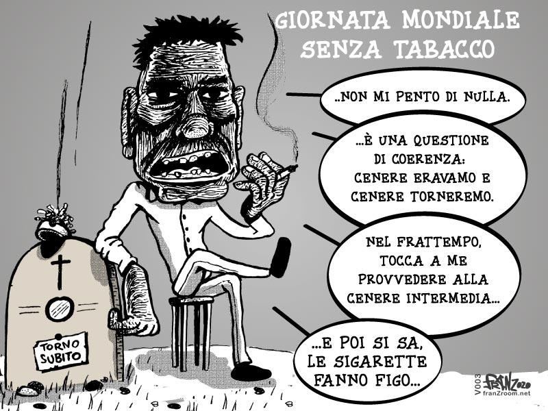 Vignetta PonteNewS, Giornata Mondiale Senza il Tabacco - Andrea FranZosi, franZroom.net