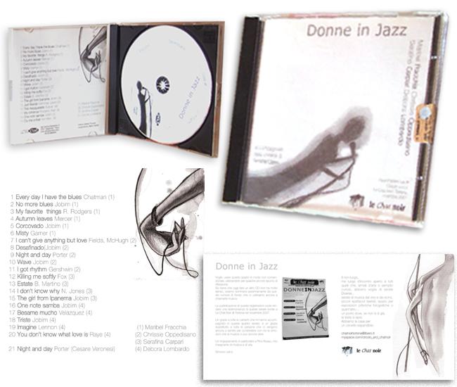 jazzWomen - illustrazioni e grafica CD by Andrea Franzosi, FranzRoom.net