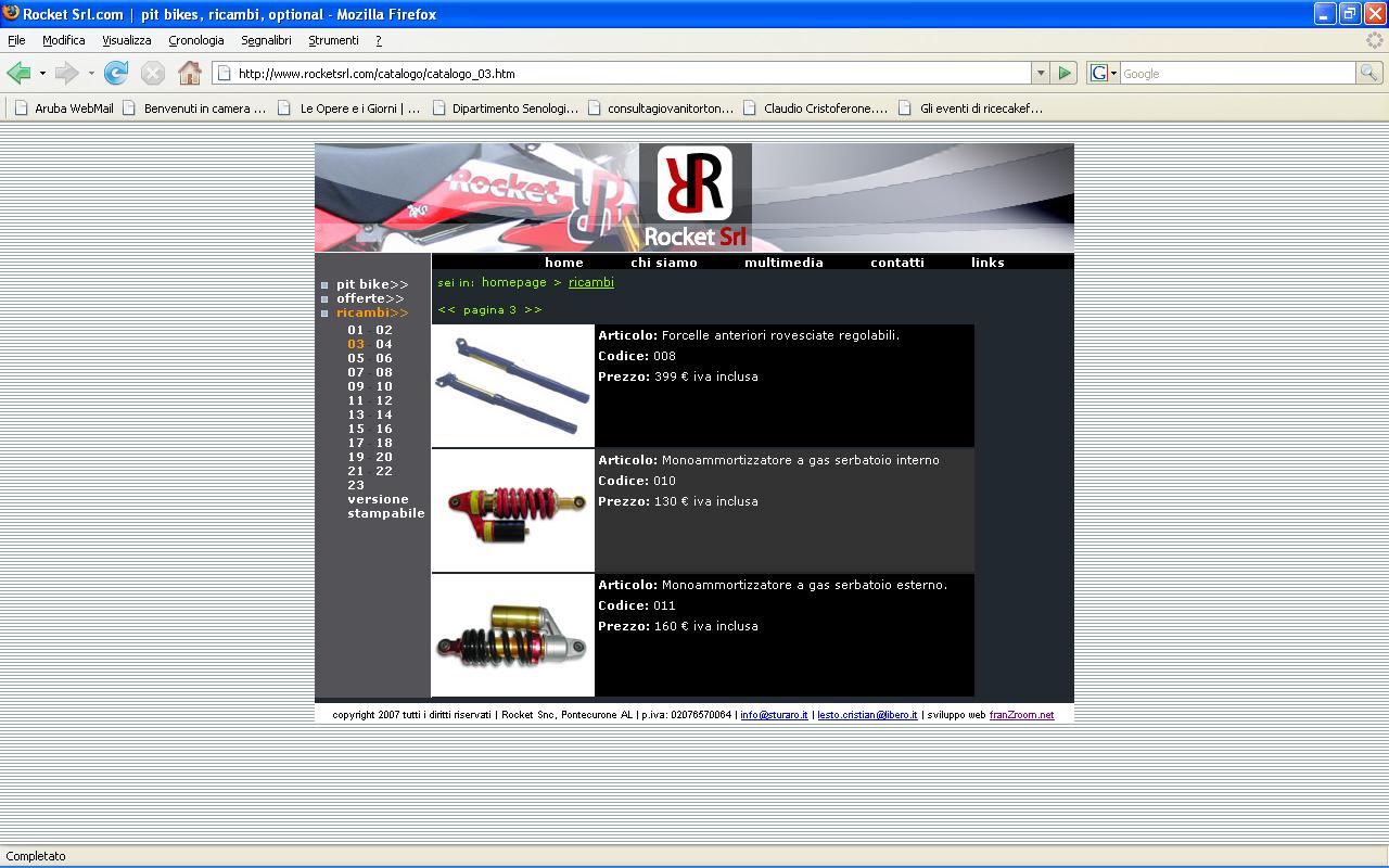 <em>Rocket srl</em> website