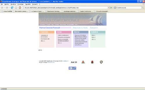 <em>Associazione FCP – Senologia Tortona</em> website