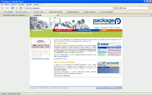 Package Sistemi website