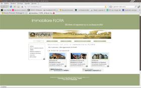 <em>Immobiliare Flora</em> website
