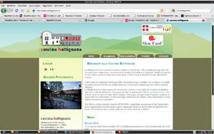 <em>Cascina Battignana</em> website