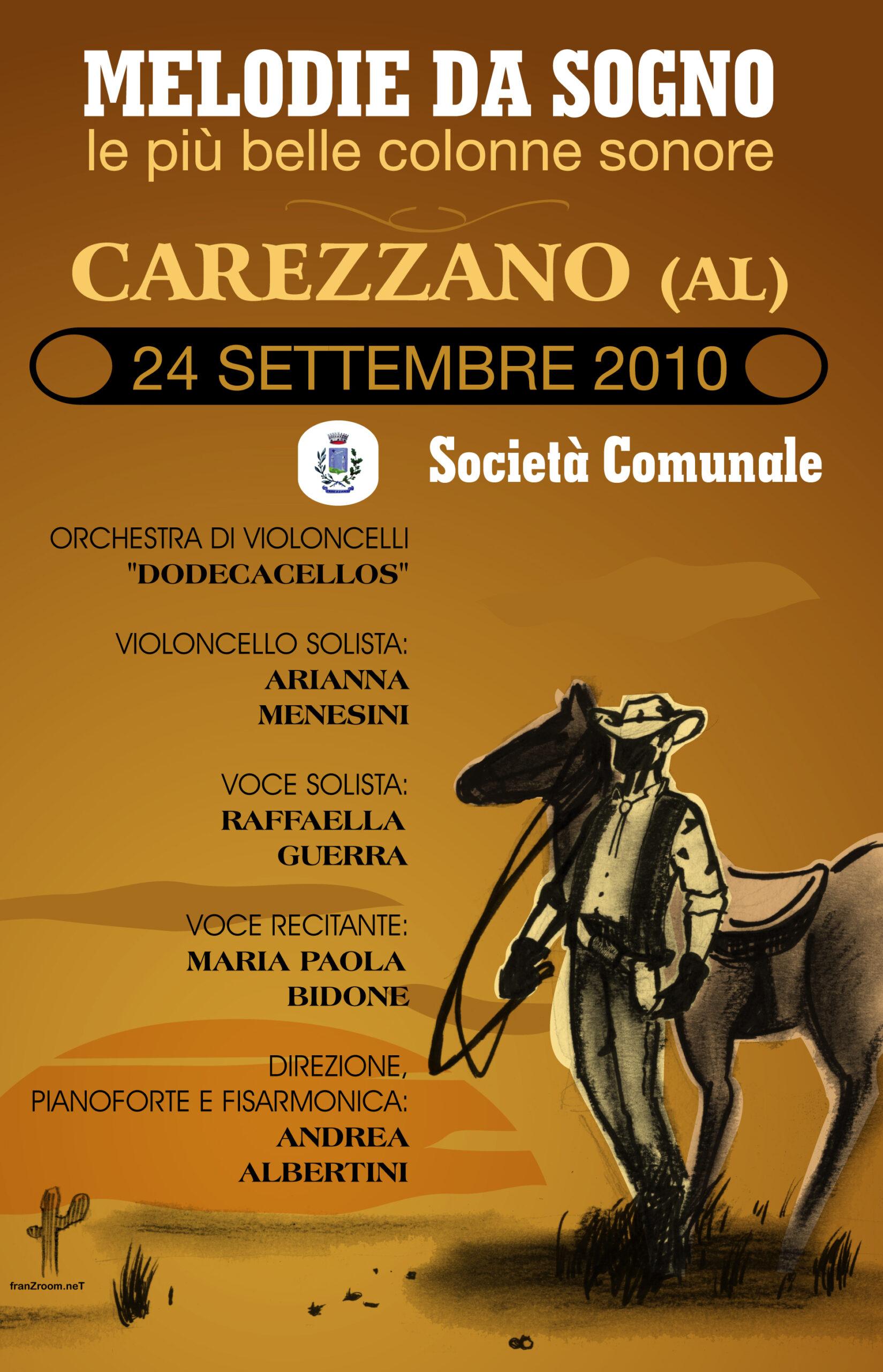 Colonne Sonore a Carezzano, manifesto di Andrea Franzosi franzroom.net