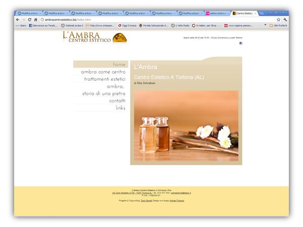 Ambra Centro Estetico website