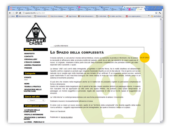 spaziocrisi website