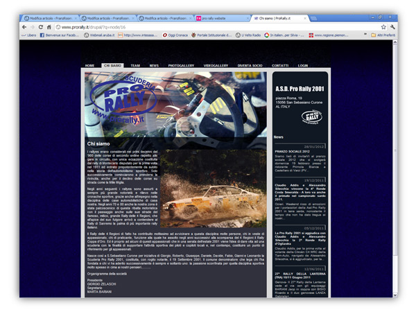 <em>Pro Rally</em> website