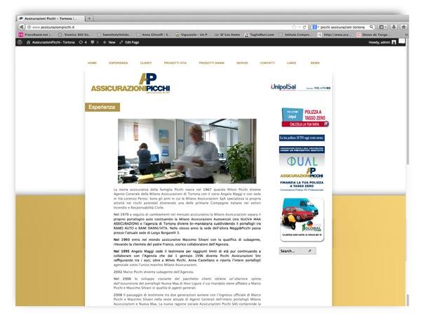 assicurazionipicchi website by Andrea Franzosi