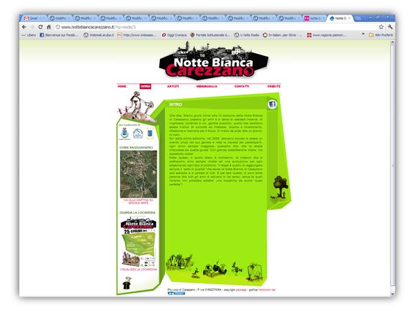<em>Notte Bianca Carezzano</em>  website