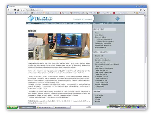 <em>Telemed Italia</em> website