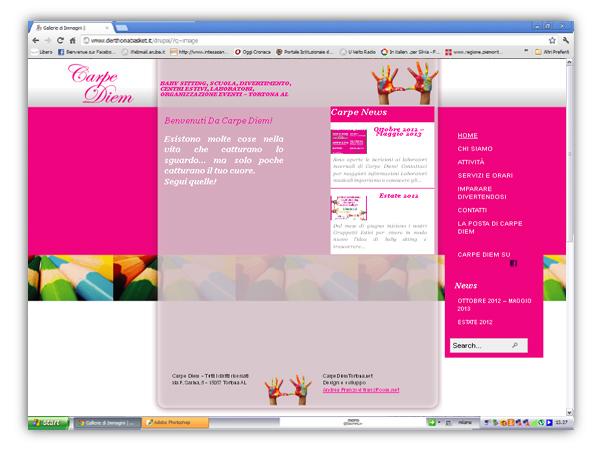 Carpe Diem Tortona website by franzRoom.net