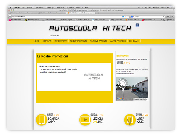 <em>AutoscuolaHiTech.it</em>  website