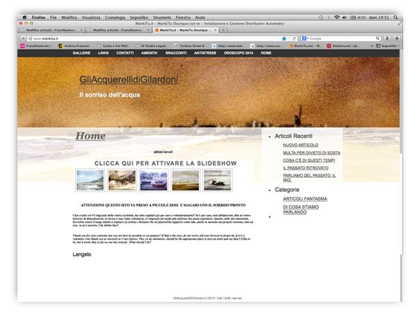 <em>Angelo Gilardoni</em> website
