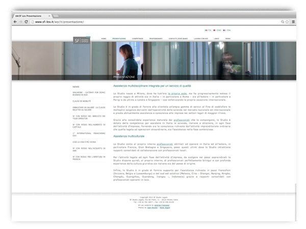 <em>SF Studio Legale</em> website