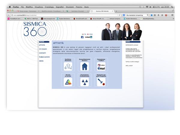 sismica360 website by franzRoom.net