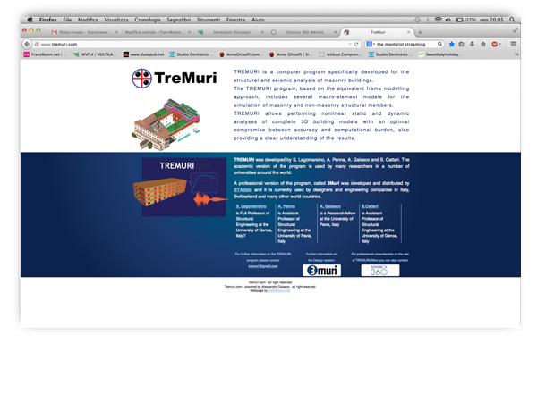<em>TreMuri</em>  website