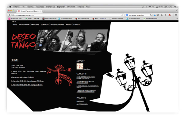 Deseo De Tango website by franzRoom.net