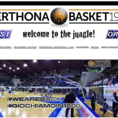 Derthona Basket website