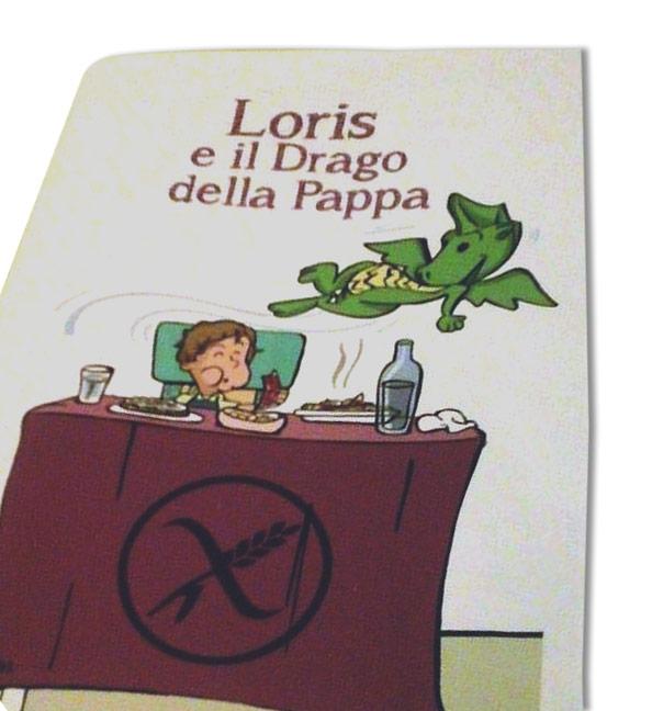 cover - Loris e il Drago della Pappa, la celiachia spiegata ai bambini - Andrea Franzosi franzRoom.net