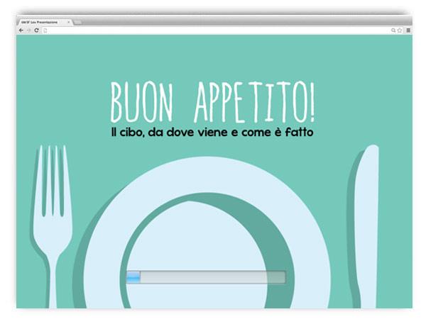 Buon Appetito, web app sul cibo per i bambini - di A. Franzosi e D. Bonaldo - html5/css3/js - franZroom.net
