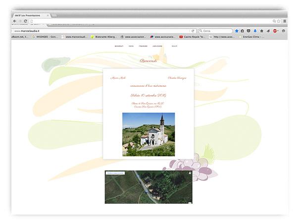 Marco e Claudia si sposano, e questo è il sito!