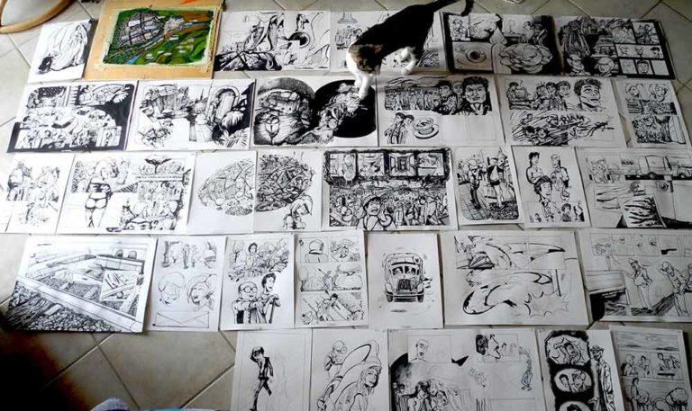 100 Scene da La Sposa Vestita, tavole in corso e FreedA - franZroom.net