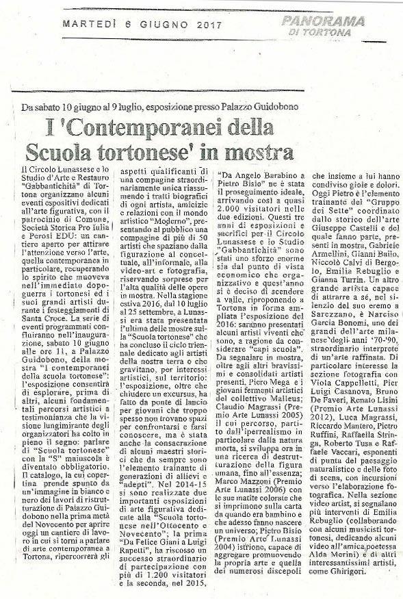 I Contemporanei, rassegna stampa - Panorama Tortona