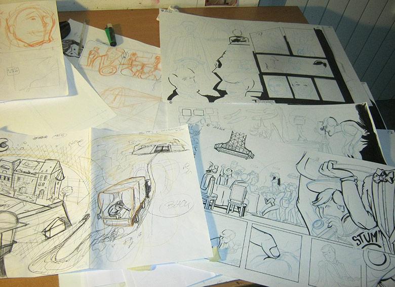100 Scene da La Sposa Vestita, tavole in corso - franZroom.net