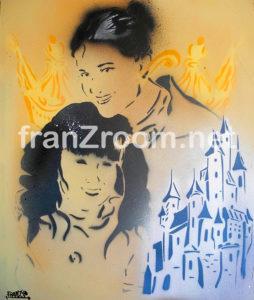 PrincipessandO - ritratti a stencil, Andrea Franzosi - franzRoom.net