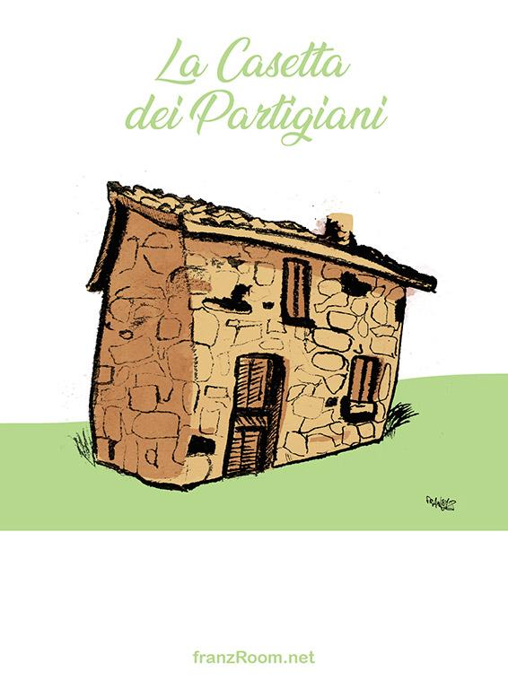 La Casetta dei Partigiani, illustrazioni OltrE il Po - franZroom.net