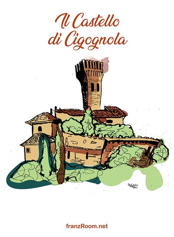 Castello di Cigognola, illustrazioni OltrE il Po - franZroom.net