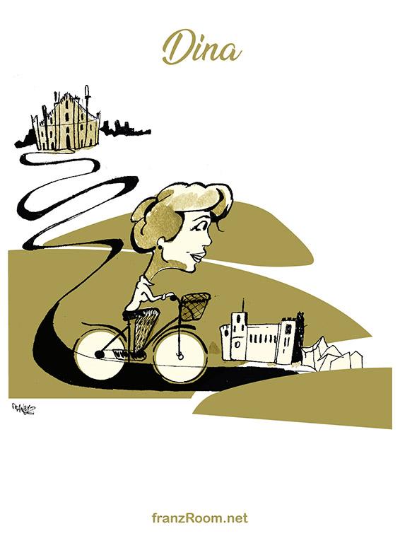 Dina, illustrazioni OltrE il Po - franZroom.net