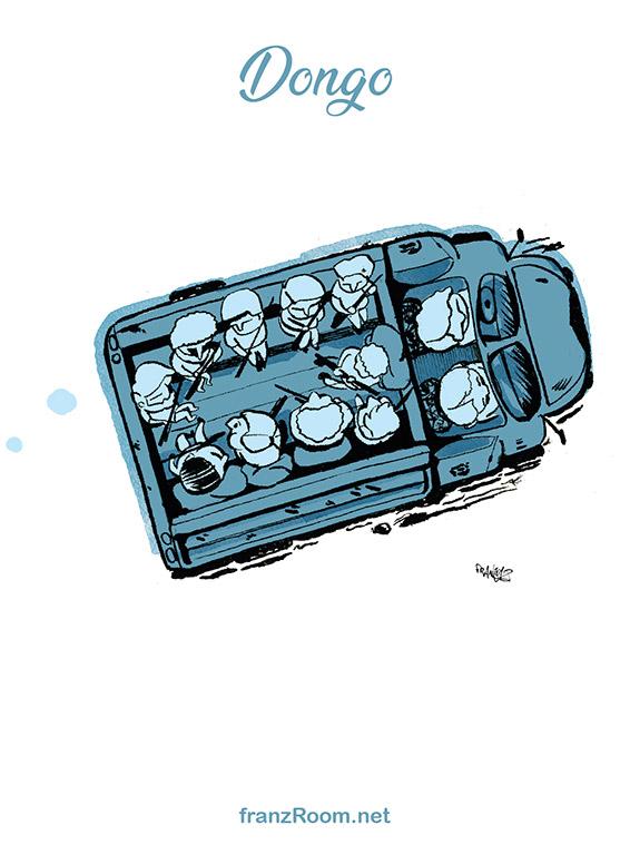 Dongo, illustrazioni OltrE il Po - franZroom.net