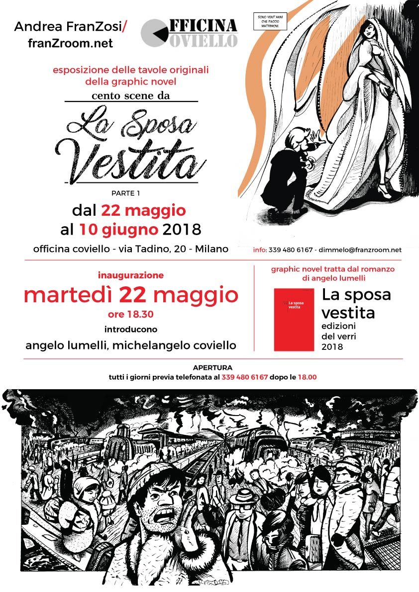 Cento Scene da La Sposa Vestita - Tavole in esposizione da Officina Coviello, Milano - franZroom.net