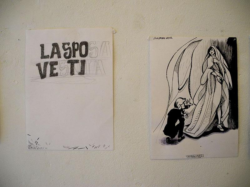 Cento Scene da la Sposa Vestita in esposizione da Officina Coviello - franZroom.net