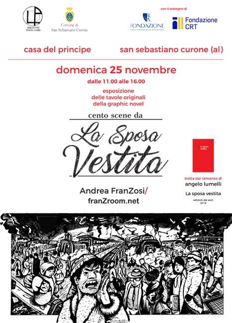 Cento Scene da La Sposa Vestita - Tavole in esposizione alla Casa del Principe, San Sebastiano Curone - franZroom.net