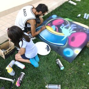 franZ dipinge alieni e strumenti musicali -pannelli per cameretta, franZroom.net