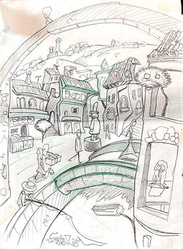bozzetto Piazza dei Ponti