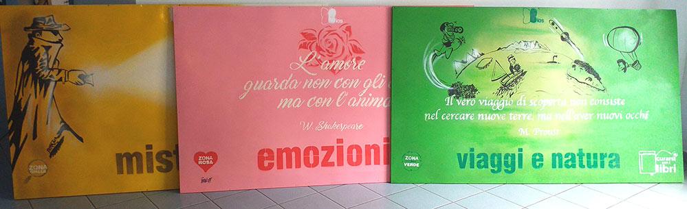 Curarsi con i Libri - LavorInCorso - pannelli decorativi, franZroom.net