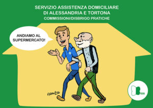 illustrazione OSS Domiciliari Coop Bios - Andrea Franzosi, franZroom.net