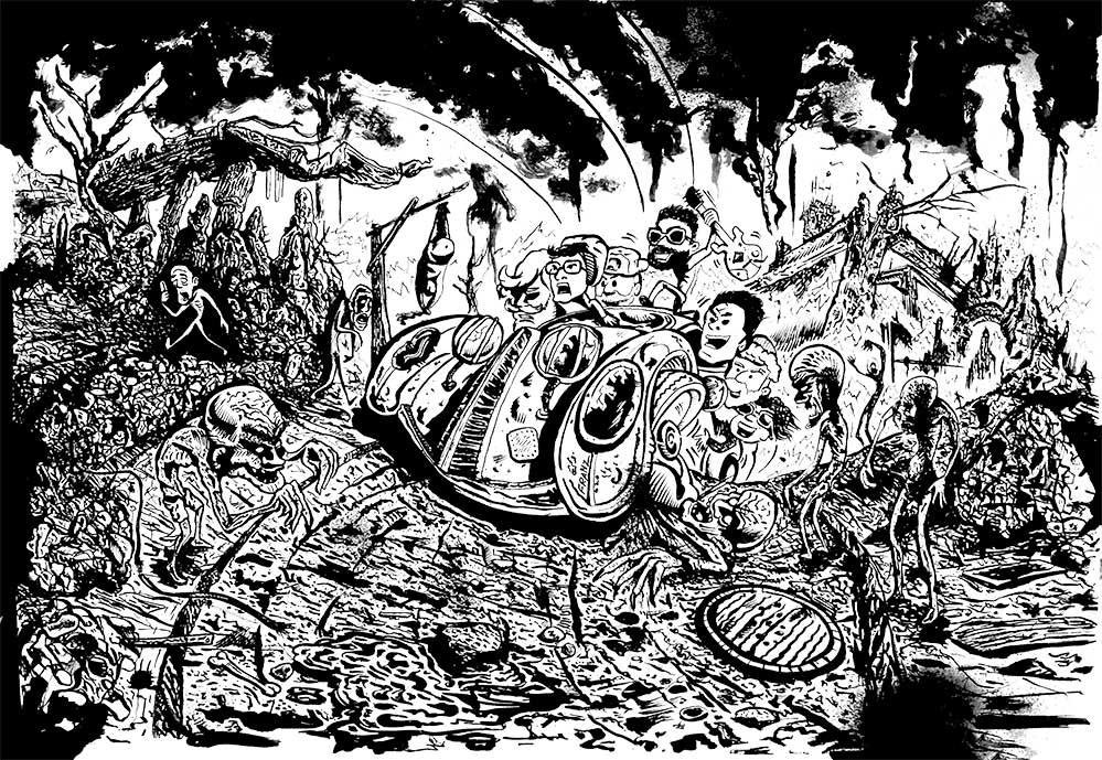 artWork Sbandati, Ashpipe - Illustrazione di Andrea Franzosi - franZroom.net
