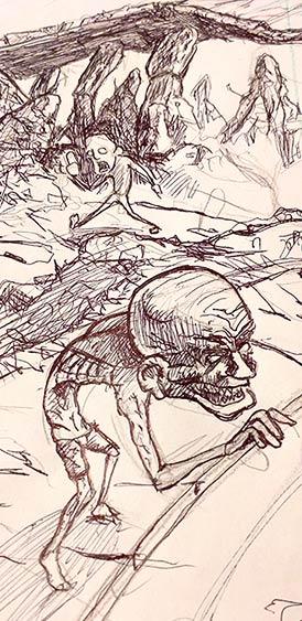 Bozzetti artWork Sbandati, Ashpipe - Poster illustrato by Andrea Franzosi - franZroom.net
