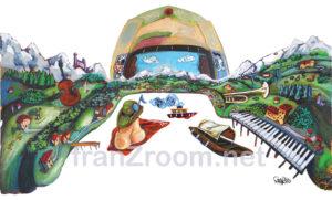 Il Lago CromaticO, illustrazione 2020 - Andrea FranZosi, franZroom.net