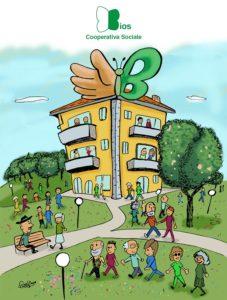 Ilustrazione cover bilancio sociale Bios