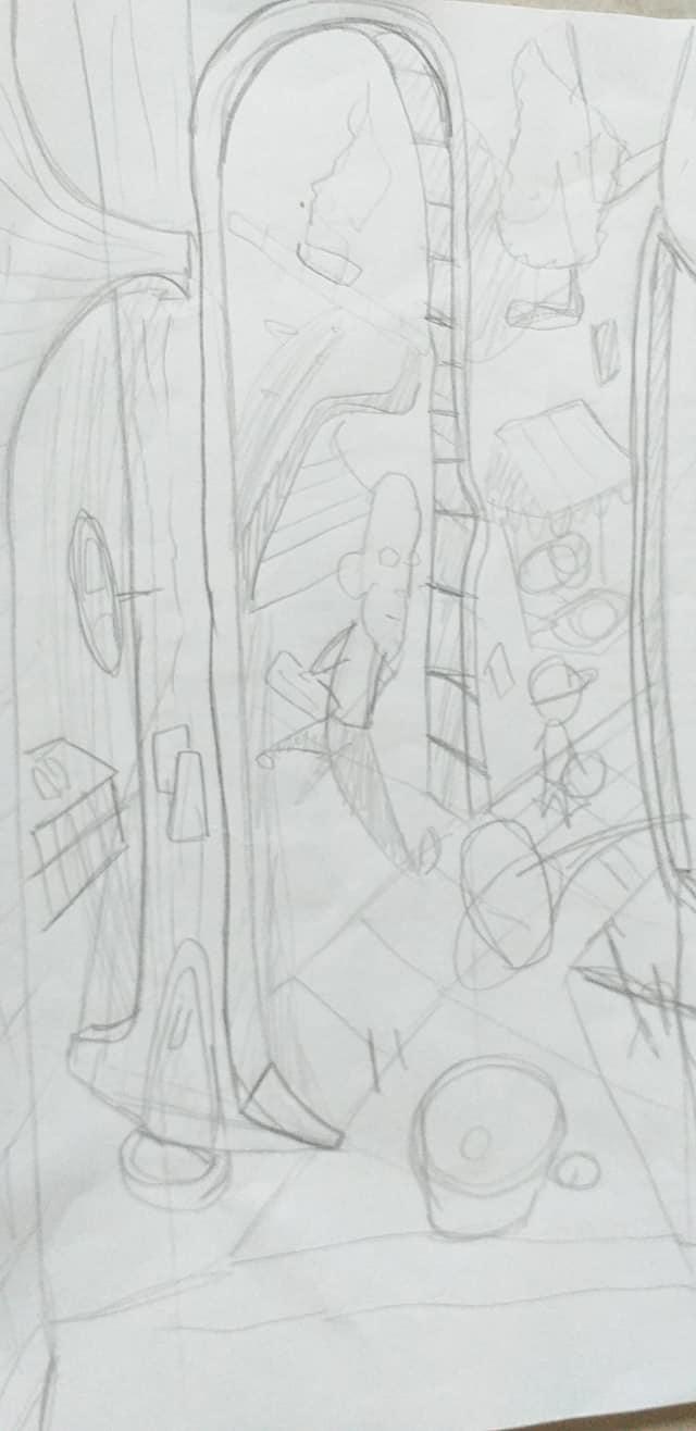 sketcH Spaesamenti da CalendariO 2021, disegni in corsO - Andrea FranZosi, franZroom.net