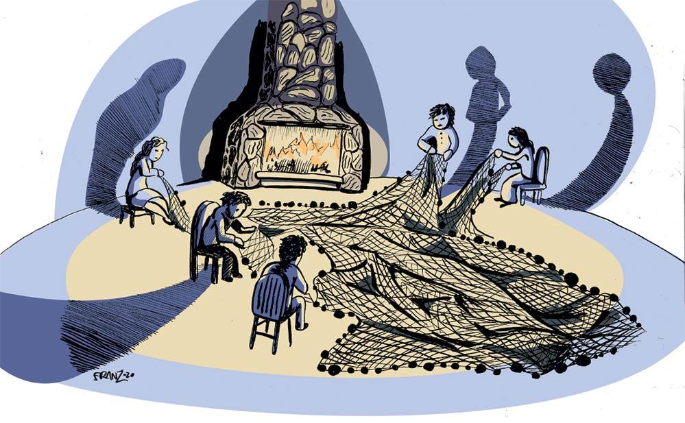 i Pescatori di Angera - Illustrazione di Andrea Franzosi franZroom.net