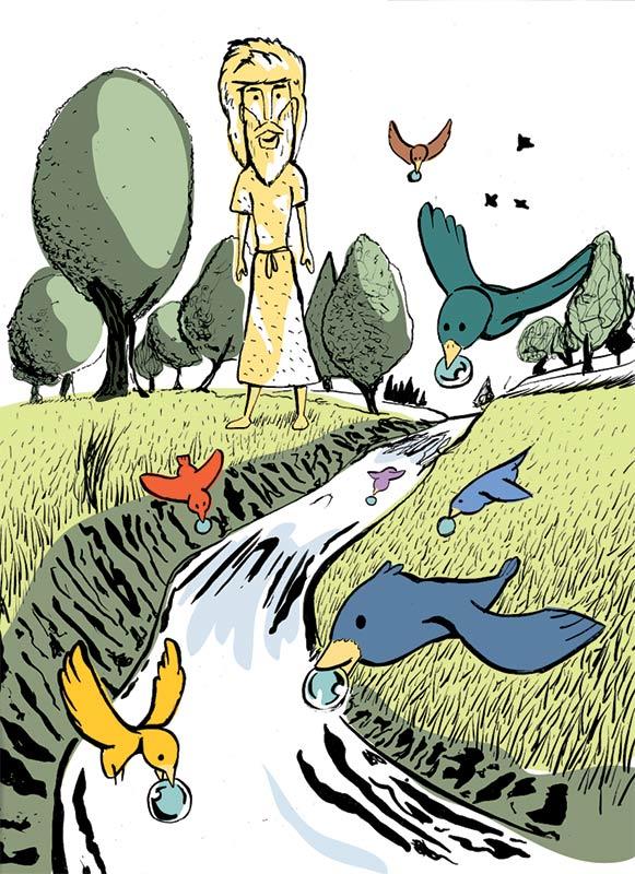 Cheglio, la Valle dei Passeri - Illustrazione di Andrea Franzosi franZroom.net